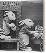 Bunny Business Wood Print