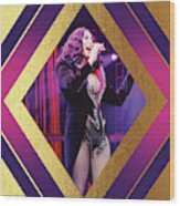 Burlesque Cher Diamond Wood Print
