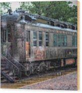 Burlington Passenger Car Wood Print
