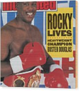 Buster Douglas, Heavyweight Boxing Sports Illustrated Cover Wood Print