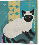 Buster The Shelter Cat Wood Print