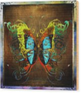 Butterfly Abstract Wood Print
