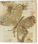 Butterfly Antiquities Wood Print