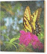 Butterfly Likeness  Wood Print
