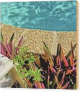By The Pool Wood Print