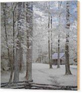 Cabin In The Smoky's II Wood Print