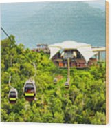 Cable Car On Langkawi Island, Malaysia Wood Print