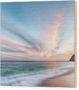 Cabo San Lucas Beach Sunset Mexico Wood Print