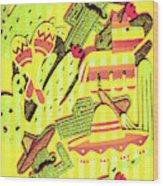 Cactus Carnival Wood Print