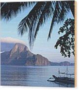 Cadlao Island From El Nido, Sunrise Wood Print