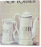 Cafe au Lait Wood Print