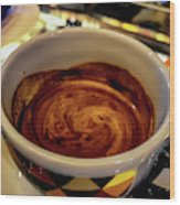 Caffe Doppio Wood Print