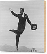 Cagney Leaping In Formal Attire Wood Print