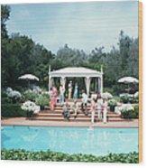 California Pool Party Wood Print