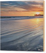 California Sunset V Wood Print