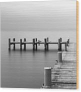 Calm Scene In Black And White With Wood Print