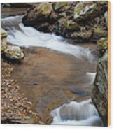 Calming Water Sounds - North Carolina Wood Print