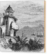 Camoens Grotto, Macao, 1847. Artist Wood Print