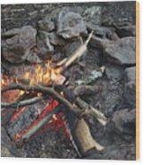 Camp Fire Wood Print