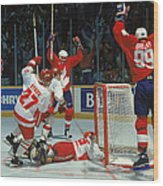 Canada Cup Victory Wood Print
