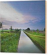 Canal De Lourcq - Precy Sur Marne - Wood Print