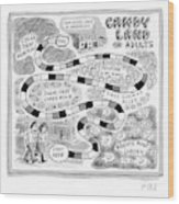 Candy Land For Adults Wood Print