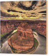 Canyons Bend Vertical  Wood Print