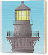 Cape Hatteras Lamp House Wood Print