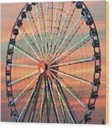 Capital Wheel Shining At Sunset  Wood Print