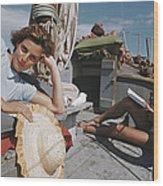 Capri Cruise Wood Print