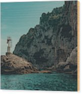 Capri Lighthouse Wood Print