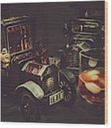 Car Club Wood Print