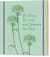 Card For St. Patrick's Day Wood Print
