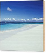Caribbean Anguilla Shoal Bay Beach Wood Print