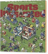 Carnage Inside The Nfls Season Of Pain Sports Illustrated Cover Wood Print