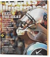 Carolina Panthers Cam Newton, 2016 Nfl Football Preview Sports Illustrated Cover Wood Print