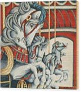 Carousel Race Wood Print