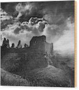 Carreg Cennen 3 Wood Print