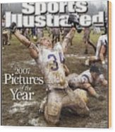 Carroll College Brandon Day, 2007 Naia National Football Sports Illustrated Cover Wood Print