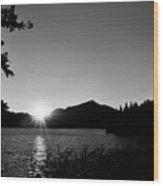 Cascade Sunset Wood Print
