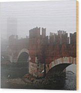 Castelvecchio Bridge Wood Print
