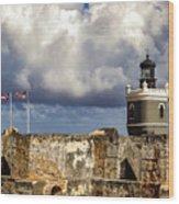 Castillo San Felipe Del Morro Lighthouse San Juan, Puerto Rico  Wood Print