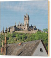 Castle At Cochem In Germany Wood Print