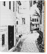 Alley In The Castle Of Ioannina Wood Print