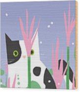 Cat Look 10 Wood Print