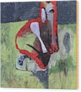 Cat With Other Garden Animals Wood Print