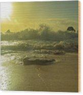 Catching The Spirit Sun Coastal Sunrise Wood Print