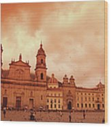 Cathedral In Bogota, Colombia, South Wood Print