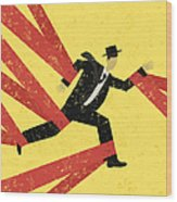 Caught In Red Tape Wood Print