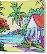Cayman Cottage On The Bay Wood Print